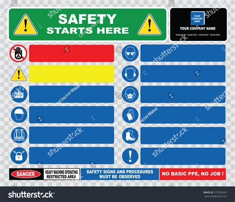 safety starts here template or site safety sign template