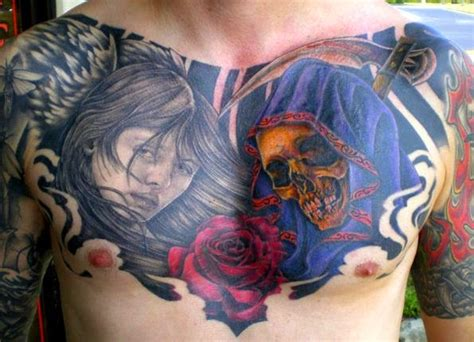 chest cover up tattoos 50 best and awesome chest tattoos for