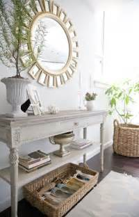 White Entryway Table Mirror Cottage Entrance Foyer The Abode