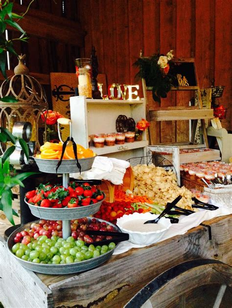 Summer Buffet Table With Fresh Fruits Pinteres Picture Of Buffet Table