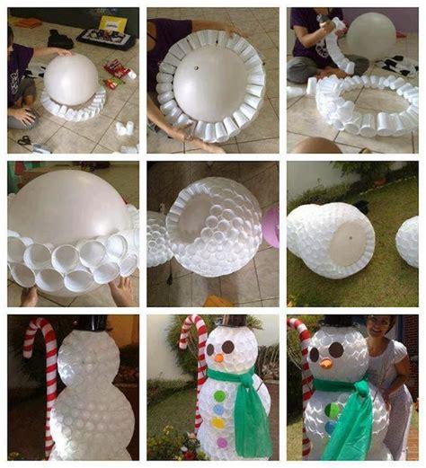 como hacer un tambor con material reciclable como hacer un mu 209 eco de nieve con vasos material