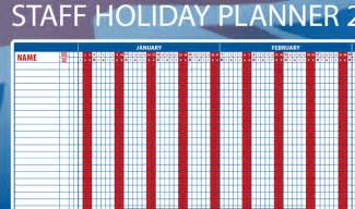 Free Staff Holiday Planner Template Staff Holiday Planner 2016 Calendar Template 2016