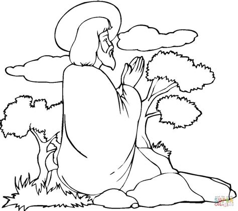 coloring pictures of jesus praying image gallery jesus praying coloring page