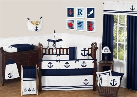 anchor baby bedding anchors away nautical baby bedding 9pc crib set by sweet