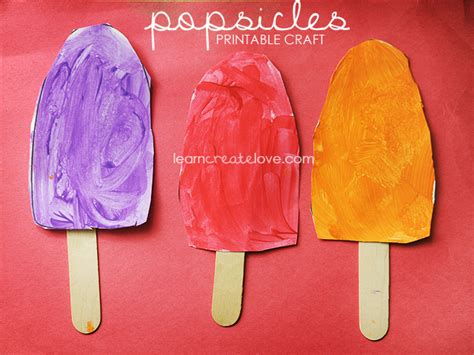 popsicle crafts printable popsicle craft