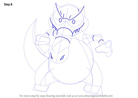 pokemon krookodile free colouring pages step by step how to draw krookodile from pokemon