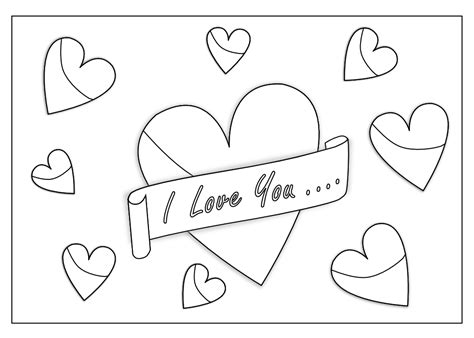 187 I Love You Art Coloring Book Colouring Sheet Page Black I My Coloring Pages