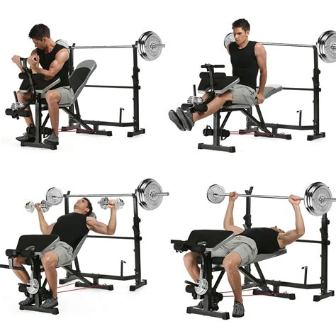 preacher bench barbell curl ancheer olympic weight bench multi function workout bench