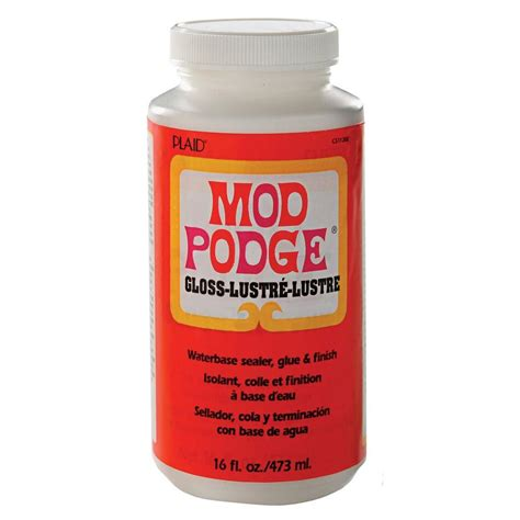 Decoupage Modge Podge - mod podge 16 oz gloss decoupage glue cs11202 the home depot