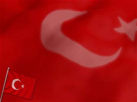 Turkey Flag 05 Powerpoint Templates Turkey Powerpoint Template