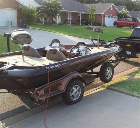 used ranger bass boats for sale in oklahoma 2008 used ranger boats 188vx bass boat for sale 22 500