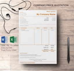 Quotation Template Pdf by Price Quotation Template 15 Free Word Excel Pdf