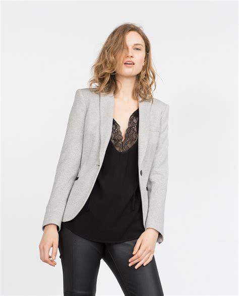 Blazer Zara Zara Grey Blazer In Gray Lyst