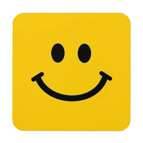 How To Decorate Your Mobile Home smiley face coaster square customizable zazzle