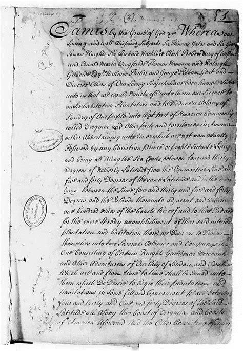 Primary Source Reading: Jamestown Charter | US History I