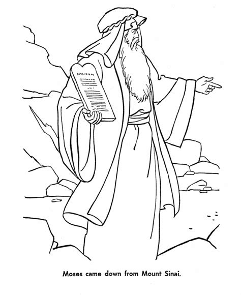 Bible Coloring Pages Moses Moses And The Ten Commandments Moses Brought God S Law by Bible Coloring Pages Moses