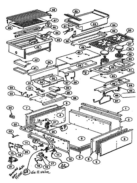 thermador gas cooktop parts diagram parts list for model gps364gl thermador parts