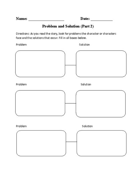 pattern of organization in reading problem solution worksheets resultinfos