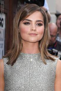 flip hairstyles for shape jenna coleman s smooth shoulder length hair with an