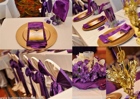Purple And Gold Birthday Decorations purple and gold kustom kreations