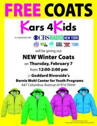 Winter Coat Giveaway - cbs radio new york partners with kars 4 kids and the goddard school to giveaway winter