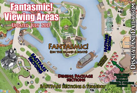 sections of disneyland fantasmic at disneyland everything you need to know