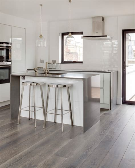 modern kitchen flooring driftwood contemporary kitchen by the