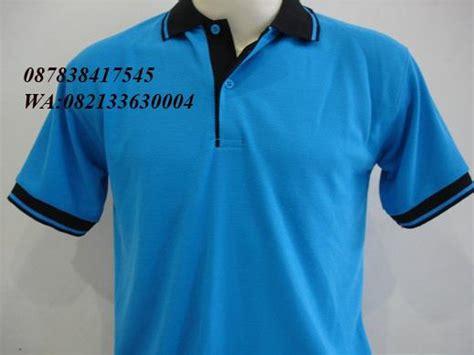 Kaos Oleh Oleh Bromo Biru jual kaos kerah warna biru kombinasi harga murah jakarta oleh toko kreasi putra mandiri