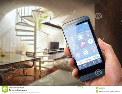 smart home device home stock image image of