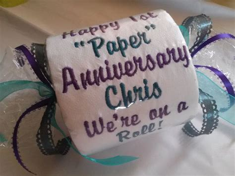 happy 1st paper anniversary embroidered toilet by whatthedump thanksgiving