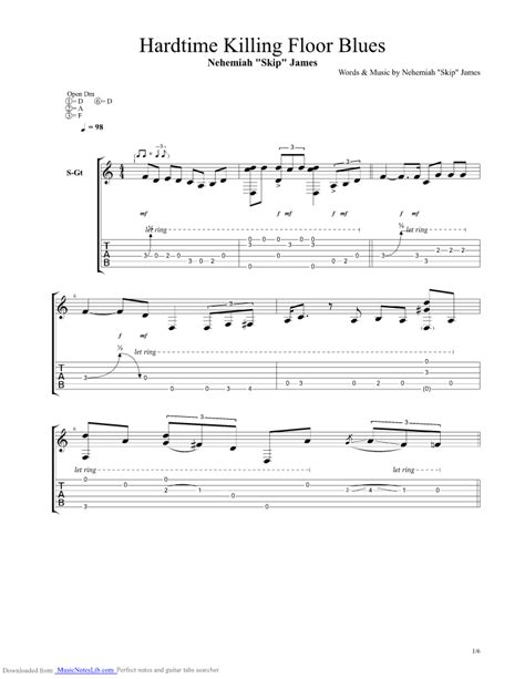 hardtime killing floor blues guitar pro tab by skip