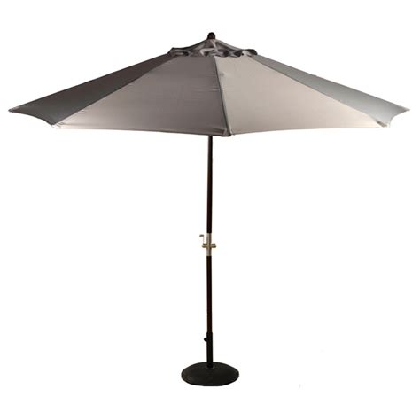 Gray Patio Umbrella Patio Umbrella Parasol Grey Wood Crank Handle 3m Umbrella Heaven