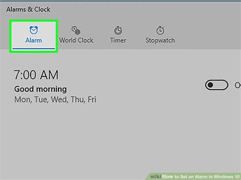 how to set an alarm in windows 10 8 steps wikihow