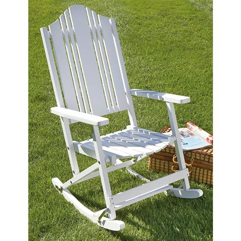 Castlecreek Patio Furniture Folding Solid Wood Outdoor Rocking Chair 149824 Patio