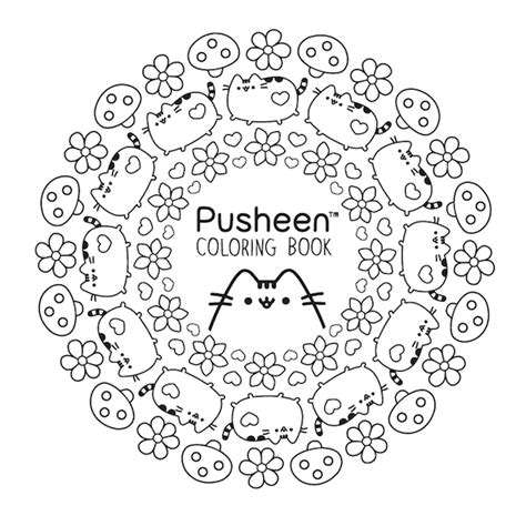 pusheen coloring pages to print coloring pages