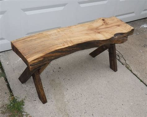 natural wood bench natural edge slab bench wood pinterest