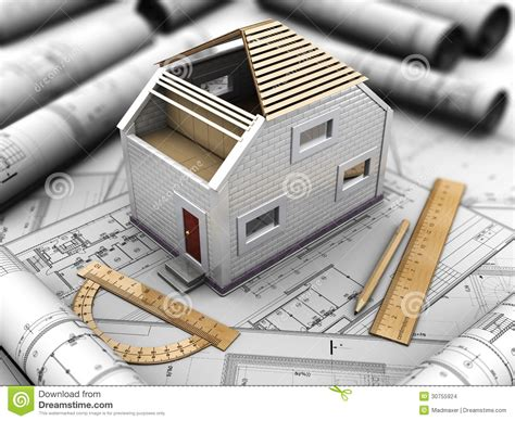 architectural project of home stock images image 30755924