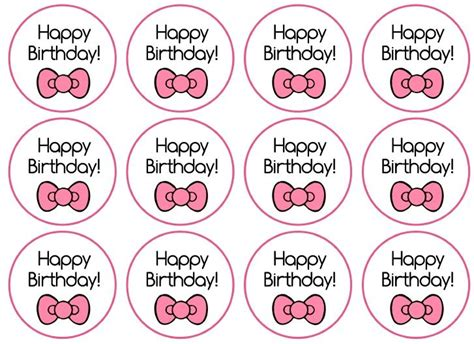 hello cupcake topper template toppers hello birthday printables