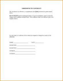 Contract Addendum Template by 10 Addendum To Contract Wedding Spreadsheet