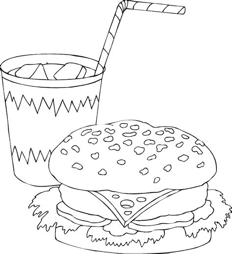 pages sandwich food coloring pages