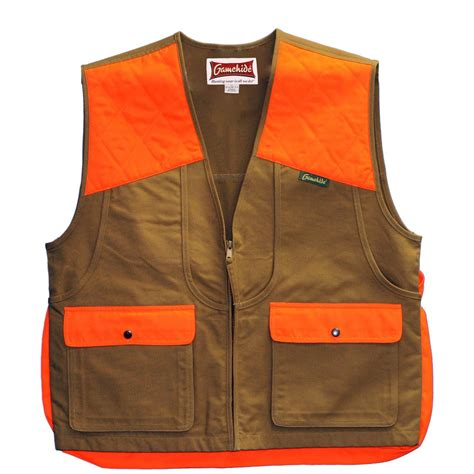 orange vest gamehide briar proof upland vest 232188 blaze orange blaze camo at