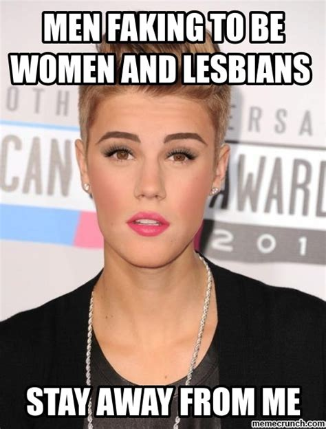Lesbian Memes - men faking to be women and lesbians