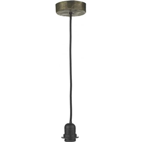 Suspension Ceiling Lights by Bronze Hanging Ceiling Light Fitting With Black Braided Cable