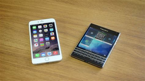 V Iphone 6 Iphone 6 Plus Vs Blackberry Passport Dogfight