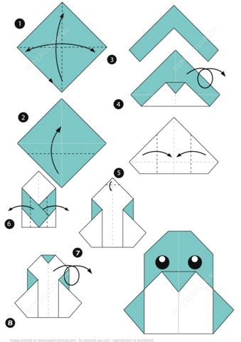 Origami Printable Templates - how to make an origami penguin free