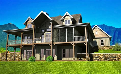 house plans with walk out basement 3 bedroom open floor plan with wraparound porch and basement