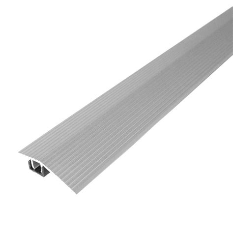 m d building products cinch 1 8125 in x 36 in satin silver fluted reducer transition strip for