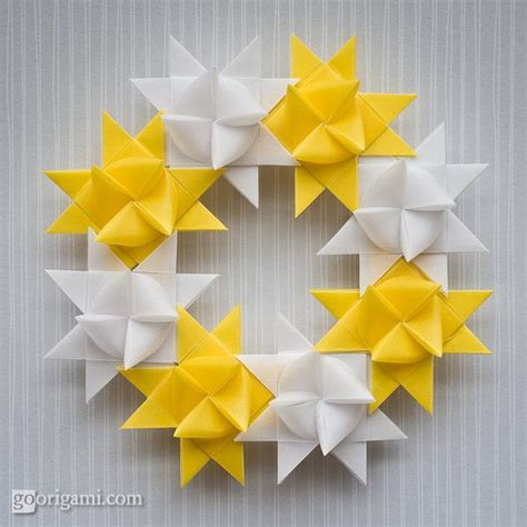 How To Make A Origami Wreath - origami wreath tilia boutique inspiration