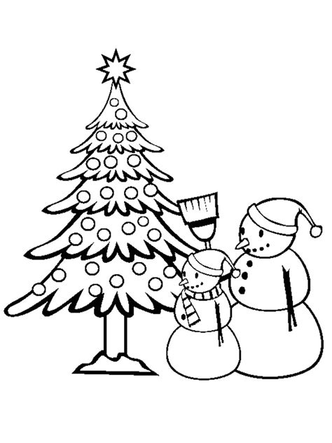 christmas tree and snowman coloring pages jarvis varnado 15 christmas tree coloring pages for kids