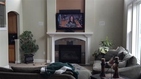 tv placement help with tv placement and window over fireplace living